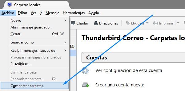 THUNDERBIRD: NO HAY SUFICIENTE ESPACIO EN DISCO PARA DESCARGAR NUEVOS MENSAJES