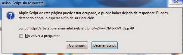 Script Ocupado en Firefox