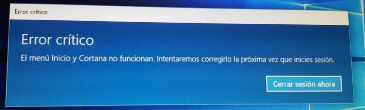 Solución al Error Critico en Windows 10
